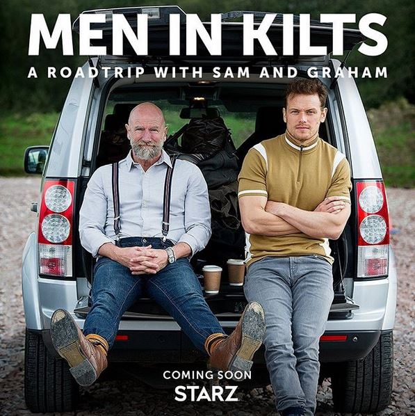 graham mctavish and sam heughan in men in kilts show