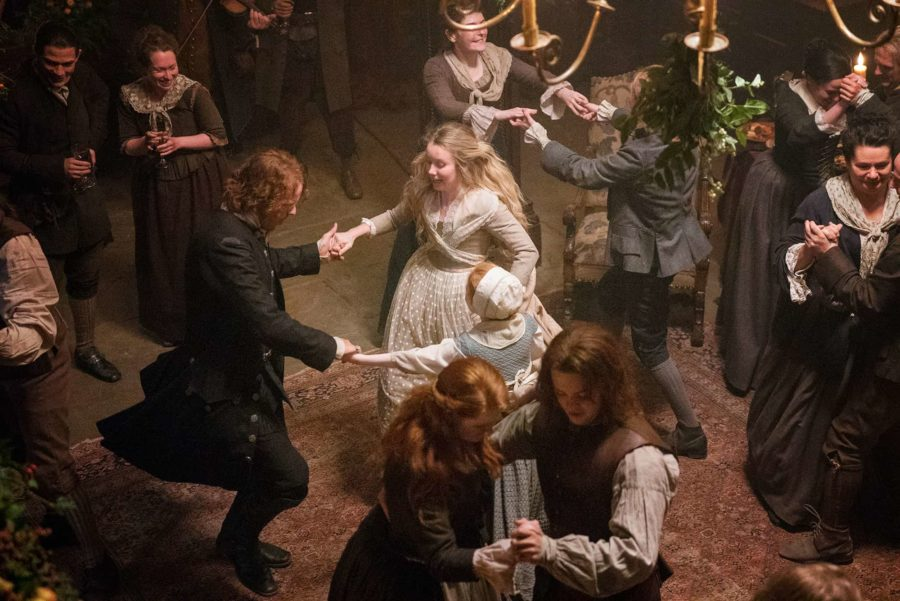 Hogmany party in Outlander
