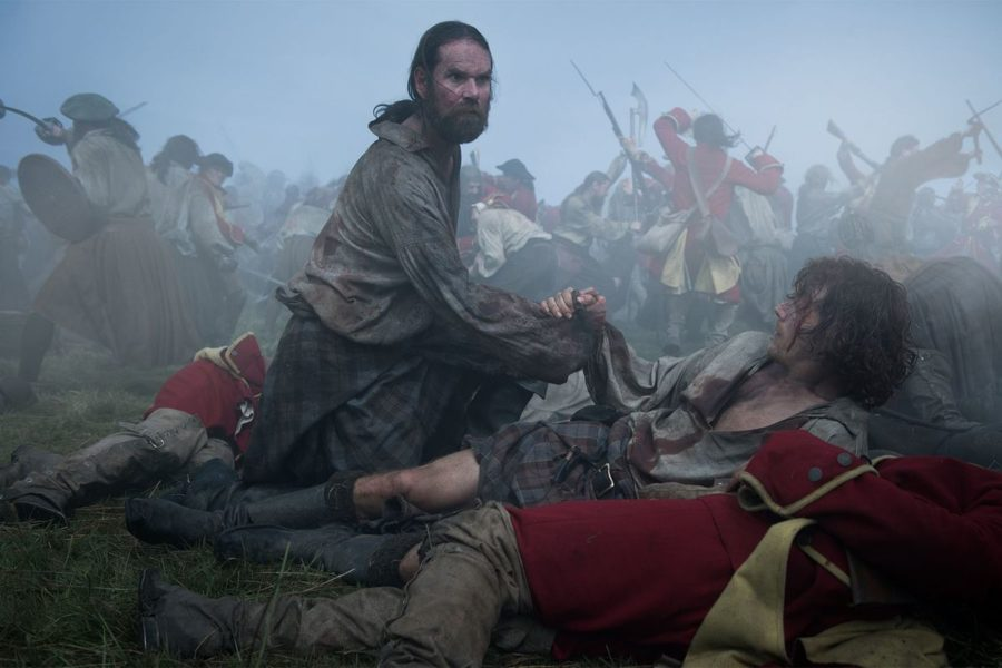 murtagh and jamie at the battle of culloden