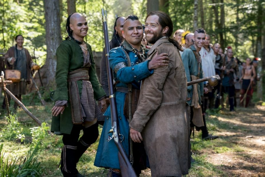 roger with native americans in outlander
