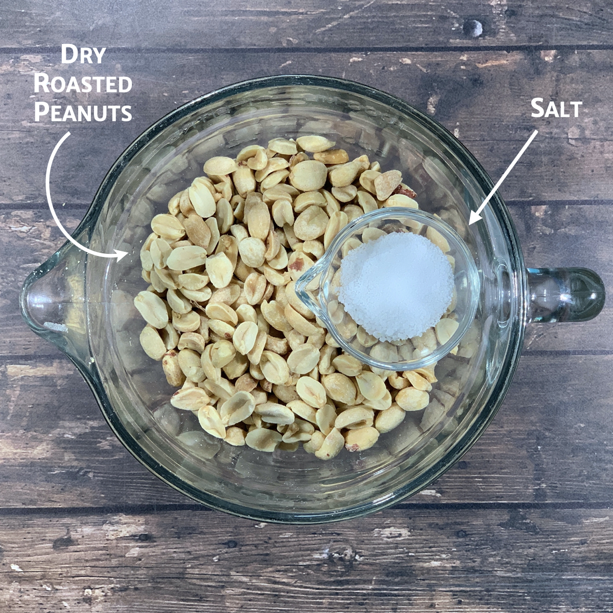 Homemade old-fashioned peanut butter ingredients