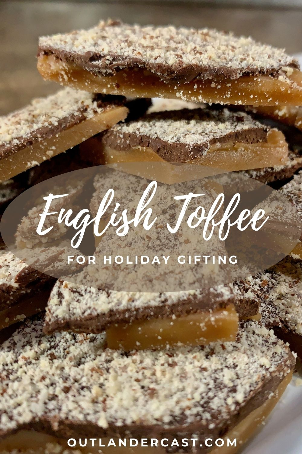 English Toffee stack plated closeup Pinterest banner