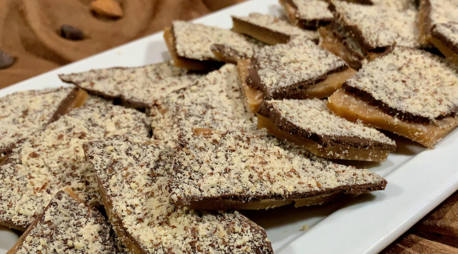 English Toffee plated closeup