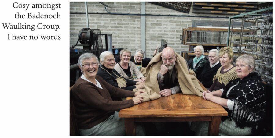 clanlands, graham mctavish with waulking group in Scotland