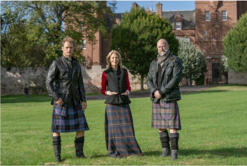 beaufort castle scotland, men in kilts