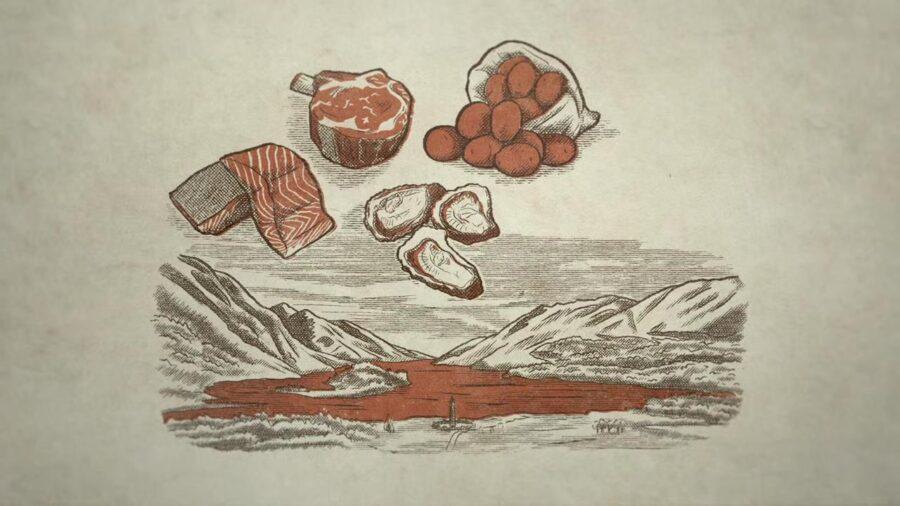 men in kilts illustration