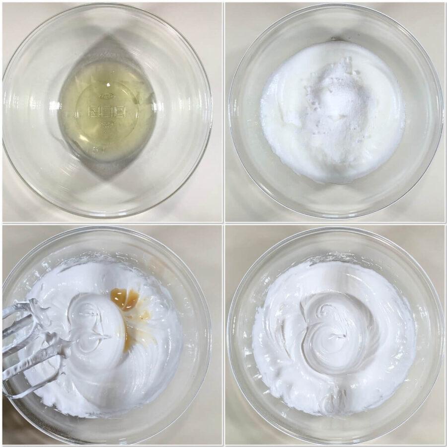 Making meringue for Eton Mess collage