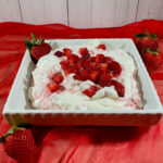 Eton Mess in a bowl on red scarf